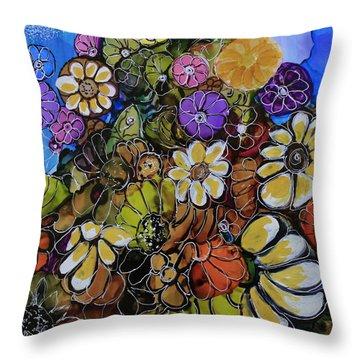 Floral Boquet Throw Pillow