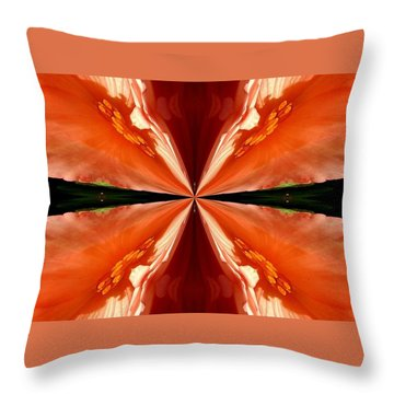 Floral Butterfly Throw Pillow