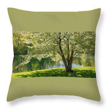 Floral Canopy Throw Pillow