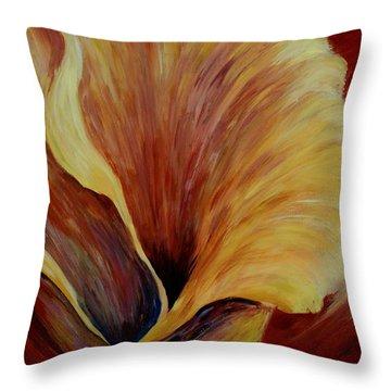 Floral Close Up Throw Pillow