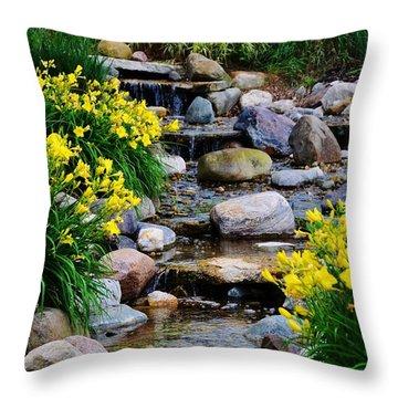 Floral Creek Throw Pillow