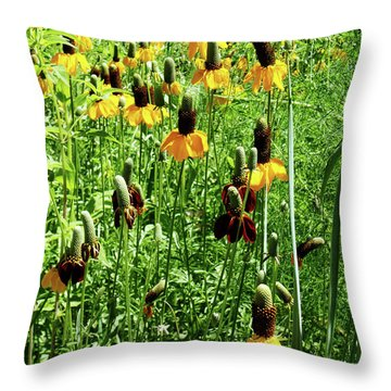 Throw Pillow featuring the photograph Floral by Cynthia Powell
