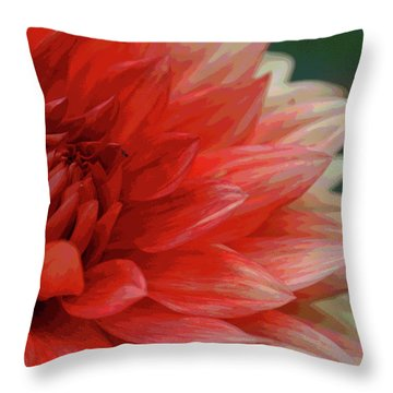 Floral Delight Throw Pillow by Mike Martin