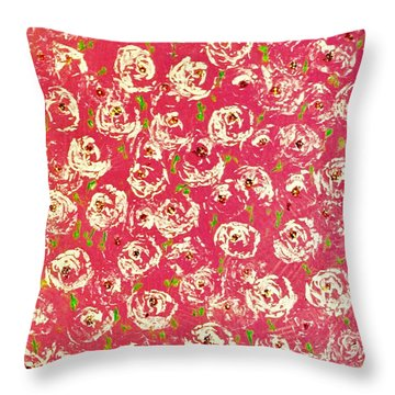 Floral Design Throw Pillow
