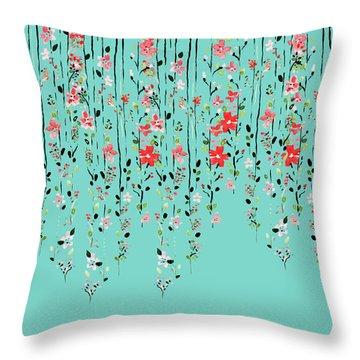 Floral Dilemma Throw Pillow by Uma Gokhale