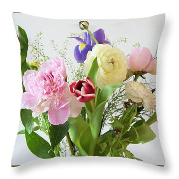 Throw Pillow featuring the photograph Floral Display by Wendy Wilton
