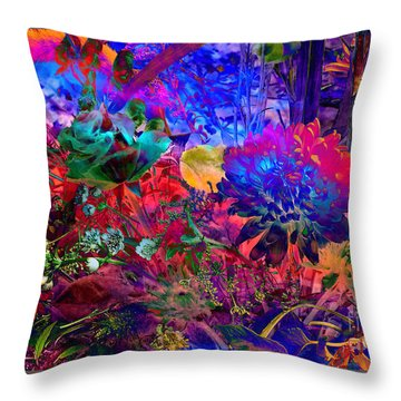 Floral Dream Of Summer Throw Pillow