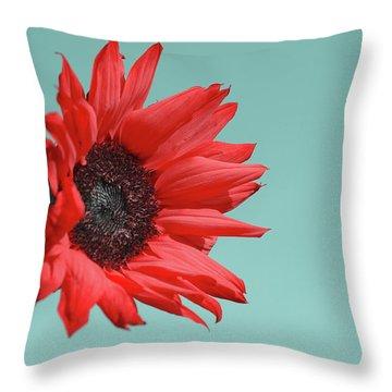 Floral Energy Throw Pillow