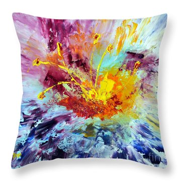 Floral Explosion Throw Pillow