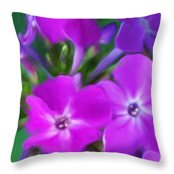 Floral Expression 2 021911 Throw Pillow by David Lane