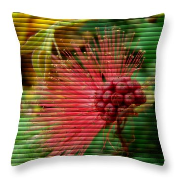 Throw Pillow featuring the photograph Floral Fan by Sue Melvin