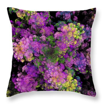 Throw Pillow featuring the digital art Floral Fancy Abstract by Andee Design