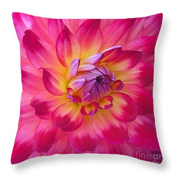 Throw Pillow featuring the photograph Floral Fantasia by Patricia Strand