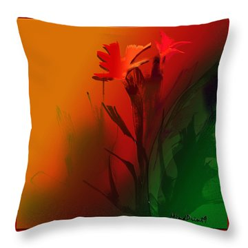 Floral Fantasy Throw Pillow by Asok Mukhopadhyay