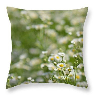 Floral Field #1 Throw Pillow