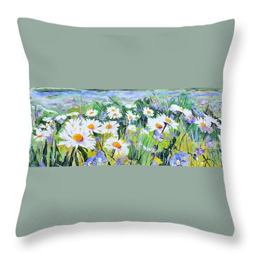 Floral Field Throw Pillow