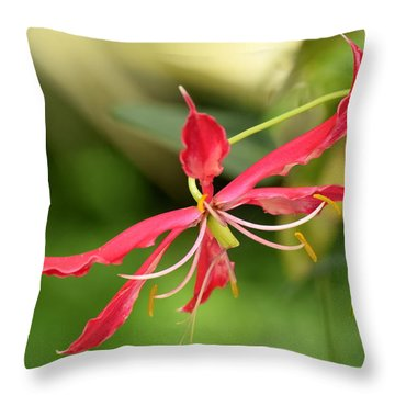Floral Flair Throw Pillow