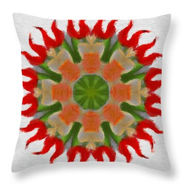 Floral Flare Throw Pillow by Jeff Kolker