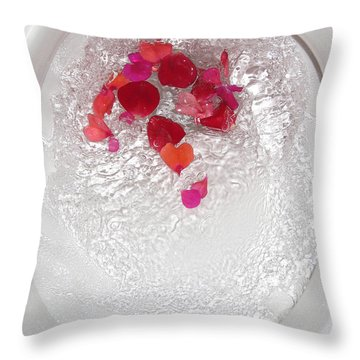 Floral Flush Throw Pillow