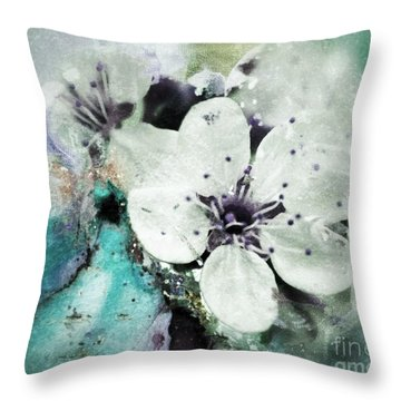 Floral Haze Throw Pillow