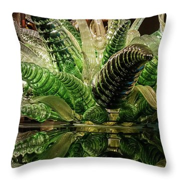 Floral In Glass Throw Pillow