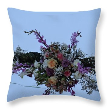 floral love in the Kenyan sky Throw Pillow