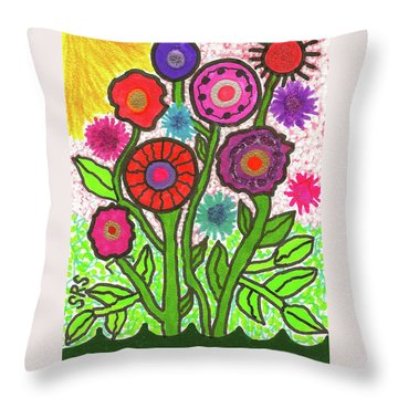 Floral Majesty Throw Pillow