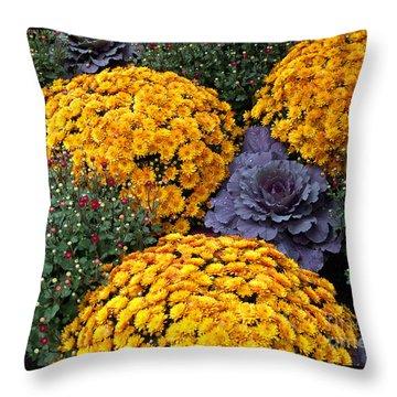 Floral Masterpiece Throw Pillow by Ann Horn