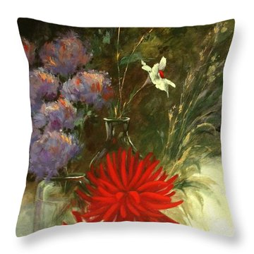 Floral Medley Throw Pillow by Madeleine Holzberg