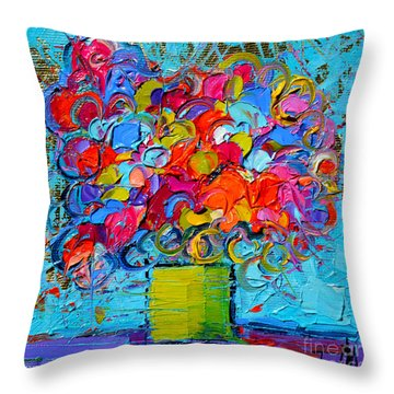 Floral Miniature - Abstract 0415 Throw Pillow