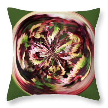 Throw Pillow featuring the photograph Floral Orb by Bill Barber