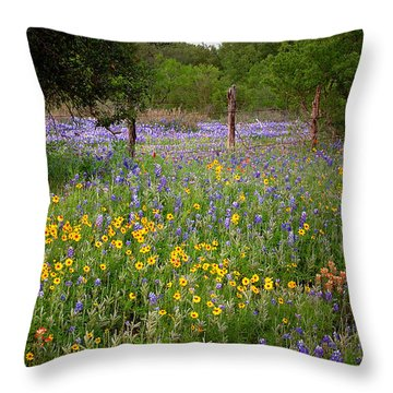 Floral Pasture No. 2 Throw Pillow by Jon Holiday