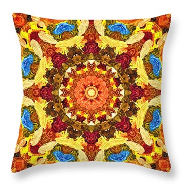 Mandala Of The Sun Throw Pillow