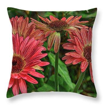 Throw Pillow featuring the photograph Floral Pink by Deborah Benoit