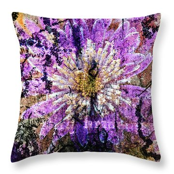 Floral Poetry Of Time Throw Pillow