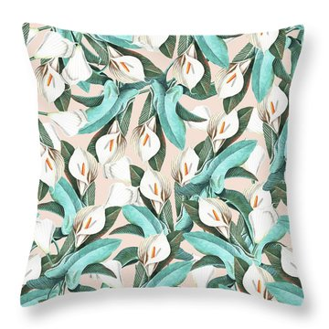 Floral Porn Throw Pillow by Uma Gokhale