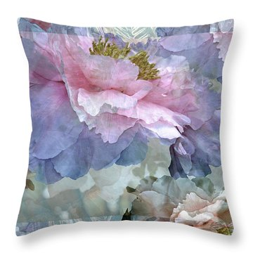 Floral Potpourri With Peonies 24 Throw Pillow