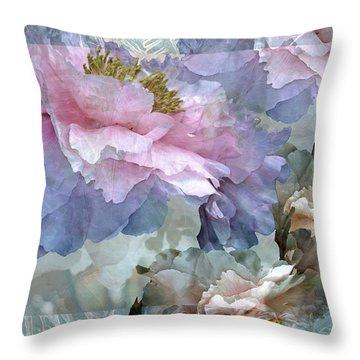 Floral Potpourri With Peonies 24 Throw Pillow by Lynda Lehmann