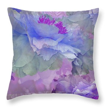 Floral Potpourri With Peonies 4 Throw Pillow