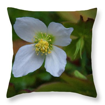 Throw Pillow featuring the painting Floral Print 096 by Chris Flees