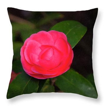Throw Pillow featuring the painting Floral Print 097 by Chris Flees