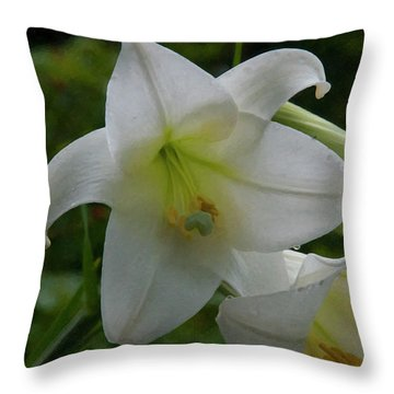 Throw Pillow featuring the painting Floral Print 098 by Chris Flees