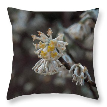 Throw Pillow featuring the painting Floral Print 099 by Chris Flees