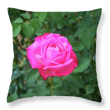 Throw Pillow featuring the painting Floral Print 100 by Chris Flees