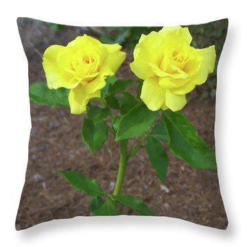 Throw Pillow featuring the painting Floral Print 101 by Chris Flees