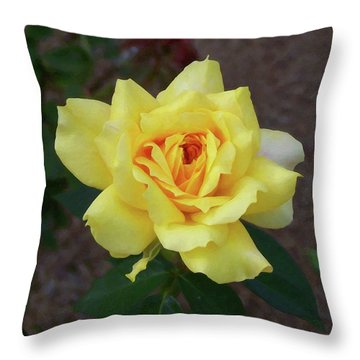 Throw Pillow featuring the painting Floral Print 102 by Chris Flees