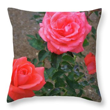 Throw Pillow featuring the painting Floral Print 103 by Chris Flees
