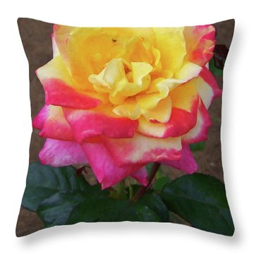 Throw Pillow featuring the painting Floral Print 104 by Chris Flees