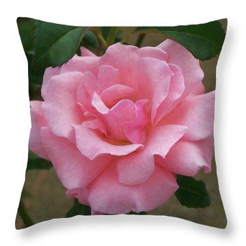 Throw Pillow featuring the painting Floral Print 105 by Chris Flees