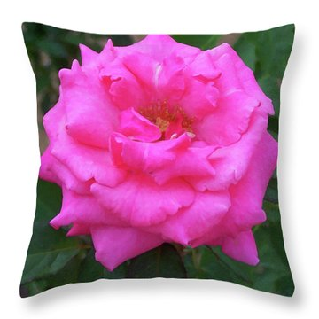 Throw Pillow featuring the painting Floral Print 106 by Chris Flees